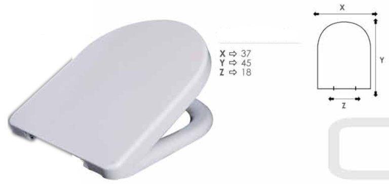 Copriwater compatibile per sanitari Catalano C52 in termoindurente