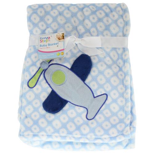 Newborn Soft Cosy Fleece Blankets Pram Crib Moses Basket Blanket /& Comforters
