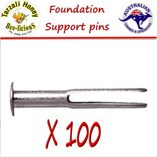 WAX FOUNDATION SUPPORT PINS X 100 BEES WAX EASY  HONEYCOMB   FOUNDATION PINS