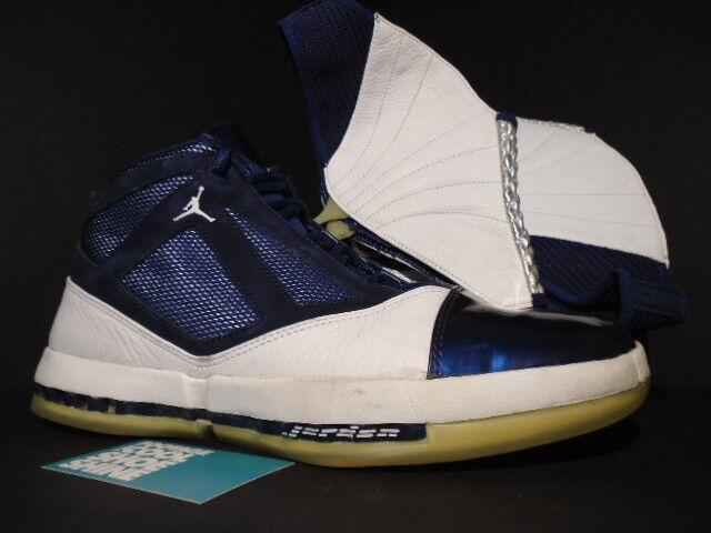 2001 NIKE AIR JORDAN XVI XV1 16 blanc NAVY BLUE Noir rouge 136059-141 11.5 Chaussures de sport pour hommes et femmes