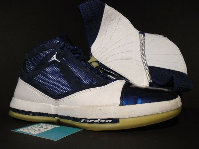 2001 NIKE AIR JORDAN XVI XV1 16 WHITE NAVY BLUE BLACK RED 136059-141 11.5