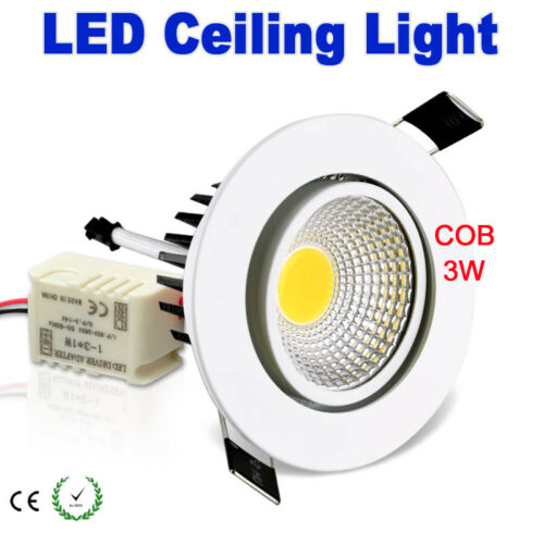 120//360 Degree White 3W 5W 7W COB LED Recessed Ceiling Downlight with driver