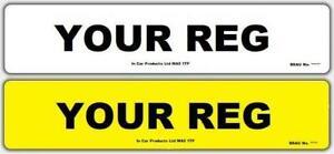 Pair-of-Plain-Standard-MOT-UK-Road-Legal-Car-Van-Reg-Registration-Number-Plates