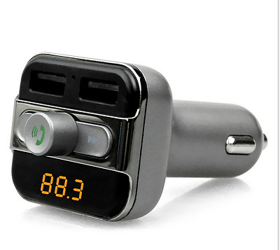 FM Transmitter Bluetooth Car Kit Wireless Dual USB Charger Audio MP3 Player