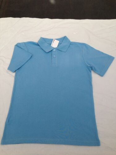 BNWT Boys//Girls Sz 10 Target Schoolwear Brand Sky Blue Short Sleeve Polo Top
