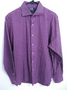 Polo-Ralph-Lauren-Regent-Custom-Fit-Mens-Size-Large-16-1-2-Button-Up-Dress-Shirt