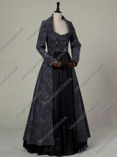 Victorian Dresses- Patterns, Costumes, Custom Dresses    Gothic Victorian Edwardian Steampunk Punk 2PC Coat Dress Theater Clothing C058 $169.00 AT vintagedancer.com