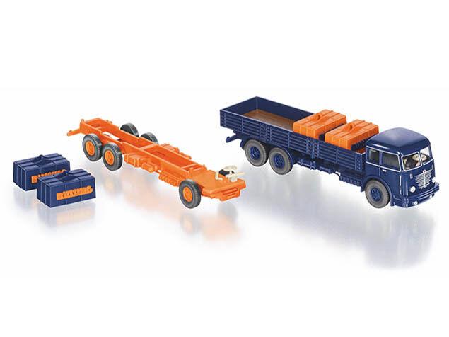 Wiking 099093 h0 camion set Büssing 12.000