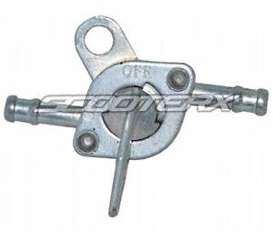 Petcock-Fuel-Valve-Silver-1-4-034-Inlet-Outlet-Mini-Chopper-Pocket-Bike-Dirt-Bike