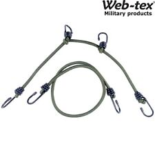 WEB-TEX GREEN MILITARY BUNG-ALL BUNGEES 2 METRES ELASTIC CORD BASHA ROPE TENT