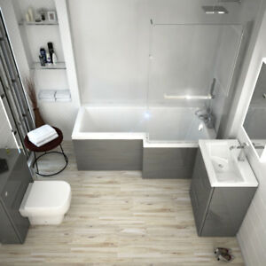 Stupendous Details About Complete Bathroom Patello Shower Bath Set With Vanity Btw Unit Toilet Grey Rh Download Free Architecture Designs Scobabritishbridgeorg
