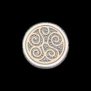 Coin-CS289-von-CEM-fuer-25-mm-Anhaengerrahmen-Edelstahl-rose-Kristall