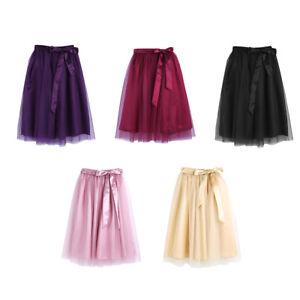 Women-3-Layer-Tutu-Skirt-Tulle-Skirt-Adult-Tutu-Prom-Ball-A-line-Gown-Mini-Dress
