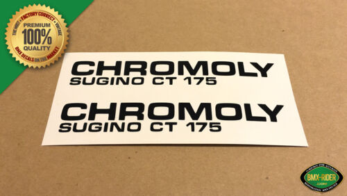 1 Set Individually Cut Out - Black Rub On Sugino CT BMX Crank Decal Stickers