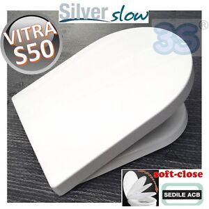 3S SEDILE CHIUSURA RALLENTATA WC S50 VITRA SOFT CLOSE ACB ERCOS SILVER SLOW New