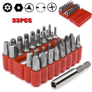 Spezial-Bit-Set-33tlg-Spezialschrauben-Sicherheitsschrauben-Bit-Satz-Bits