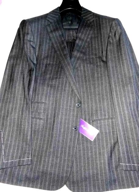 4995 NWT 44 eu54 R lila LABEL Ralph Lauren grau variegated stripes wool suit