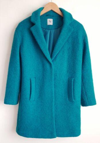 teal Ladies 46 appena Tu taglia indossato il 10 lana in con di Bouclé StqnHWC