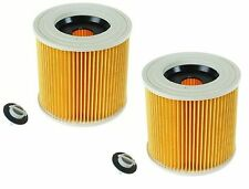 2x Quality Cartridge Filter For Karcher Wet & Dry Hoover Vacuum Cleaners