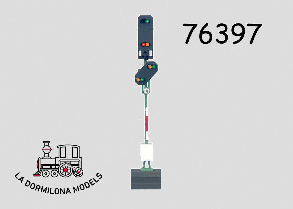 MÄRKLIN 76397 Lichthauptsignal Lichtvorsignal  Einfahrsignal DB (c75)