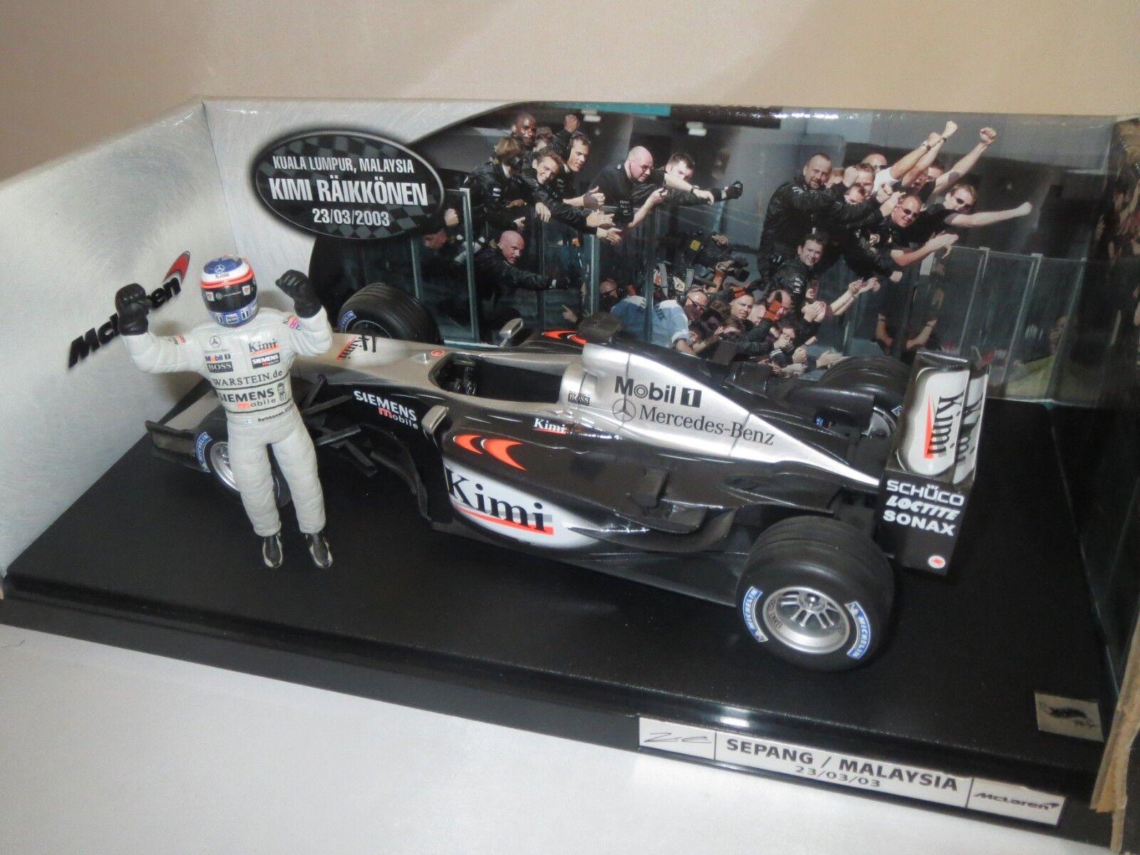 Mattel c3857  K. Räikkönen   6 (Sepang Malaisie)  2003  1 18 neuf dans sa boîte (f4)