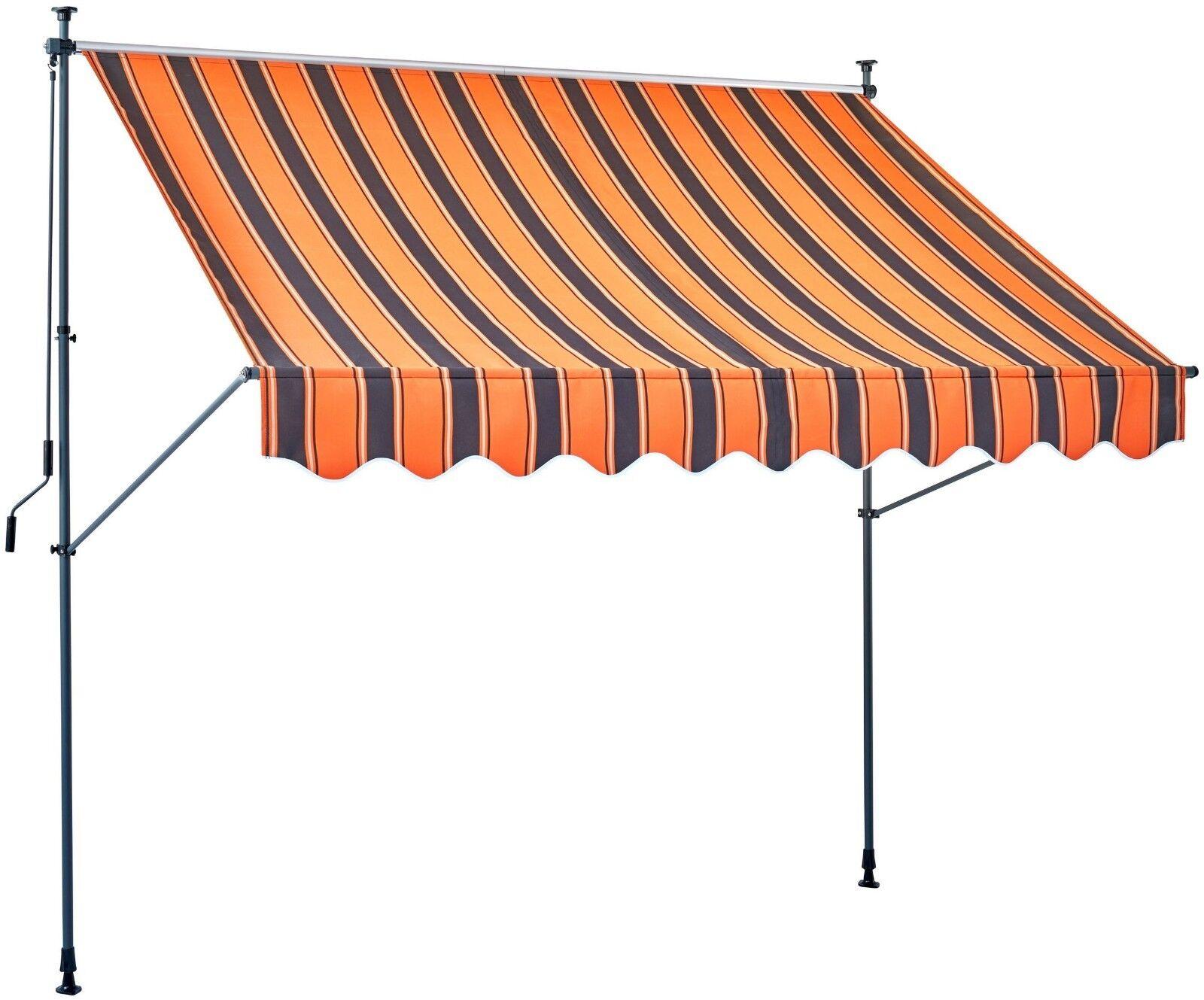 KONIFERA Klemmmarkise Orange braun, Breite  250 cm B61182641