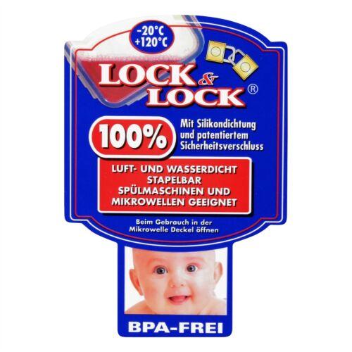 Luft und Wasserdicht Lock/&Lock HPL805 Vorratsdose 180ml 2er Pac rechteckig