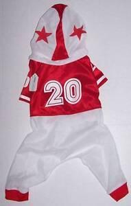 Football Player Dog Costume Medium 13034 long 19034 girth Red white Halloween - Olympia, Washington, United States - Football Player Dog Costume Medium 13034 long 19034 girth Red white Halloween - Olympia, Washington, United States