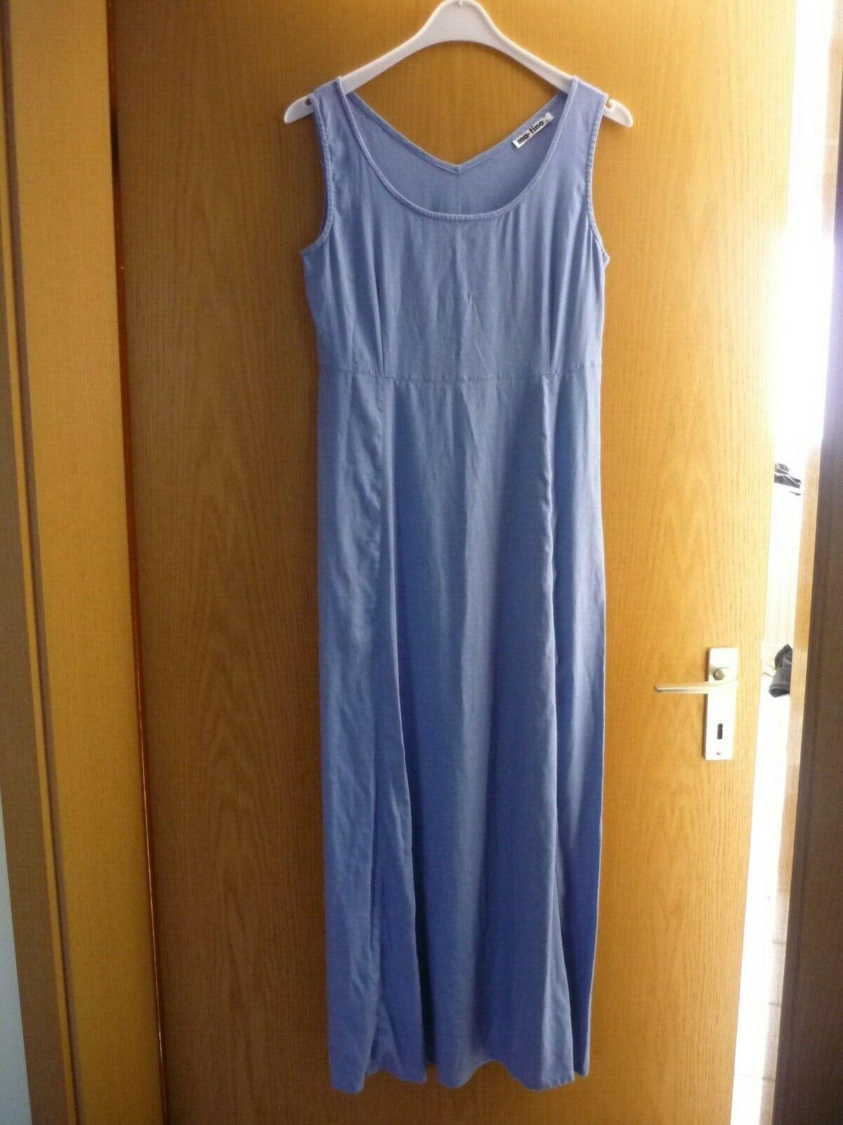 matino langes leinenkleid gr. s hellblaue jeansfarbe guter