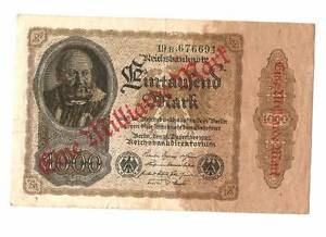 1922 Germany Weimar Republic 100 Mark Banknote