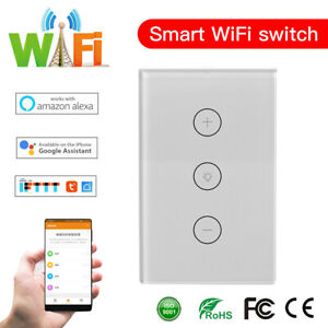 Home, Furniture & DIY WiFi Touch Smart Dimmer Light Wall Switch