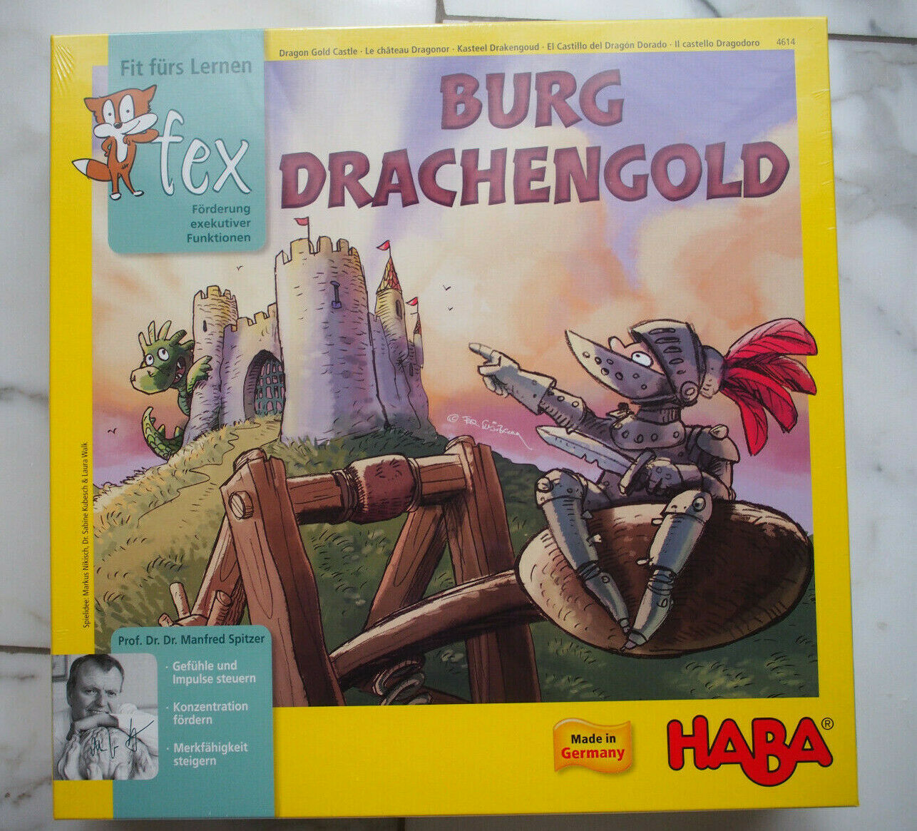 HABA® 4614 Actionsspiel ⚜ BURG DRACHENGold ⚜ NEU in OVP