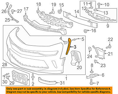 Chevrolet GM OEM FRONT BUMPER-Outer Reinforcement Right 25883348