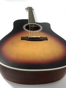 4/4 Haze CD-60MC BS Solid Spruce Top Acoustic Guitar, Dreadnought w/Cutaway