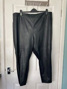 BNWT-m-amp-s-collection-Courbe-Noir-Femme-Taille-Haute-Pantalon-skinny-taille-26-Court