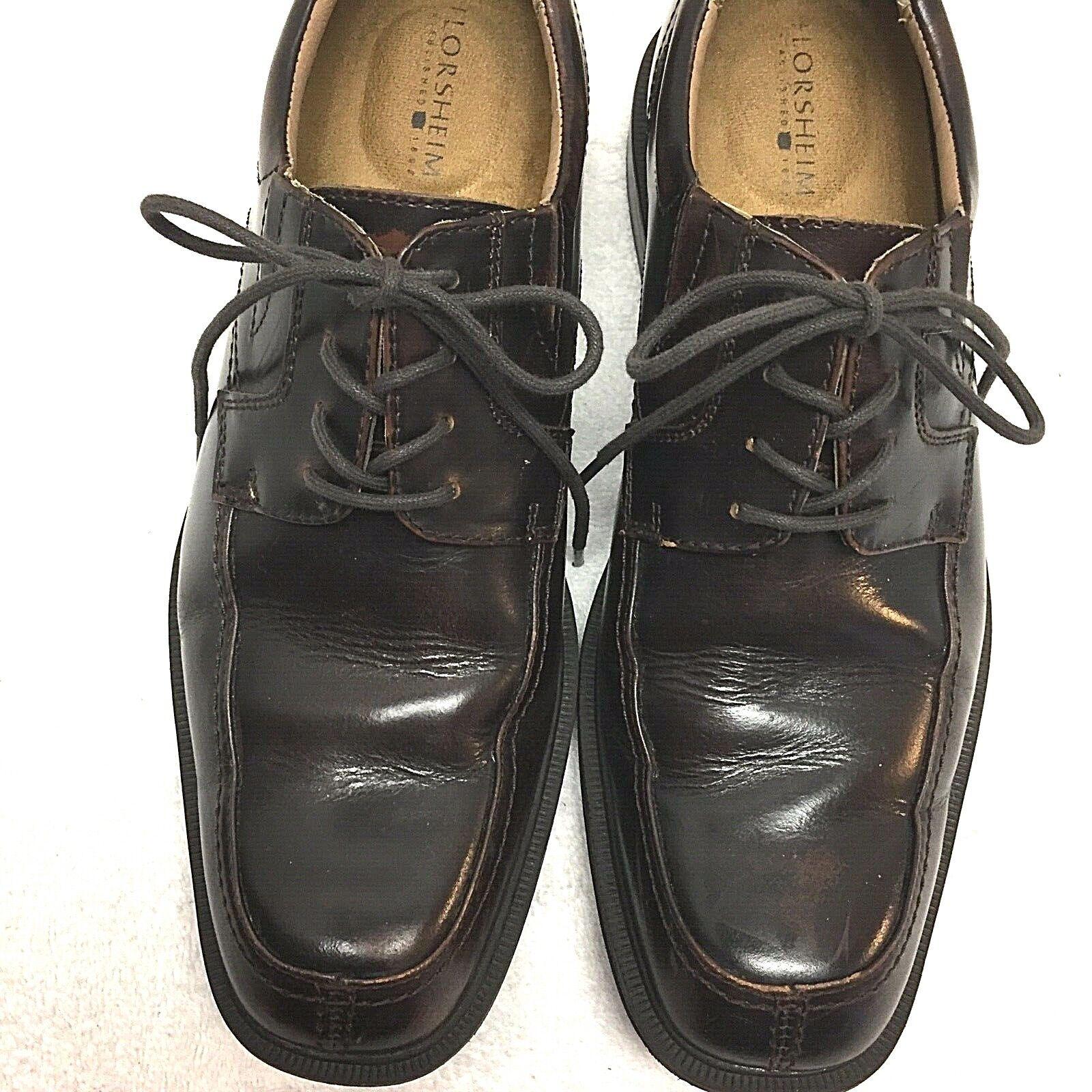 Florsheim Men's Billings Moc Toe Lace Up Brown shoes 13113-200 Size 9.5D