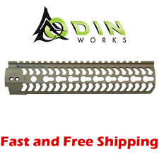 "Odin Works 9.5"" Flat Dark Earth KMod Forend Rail/Handguard & KeyMod Rail Section"