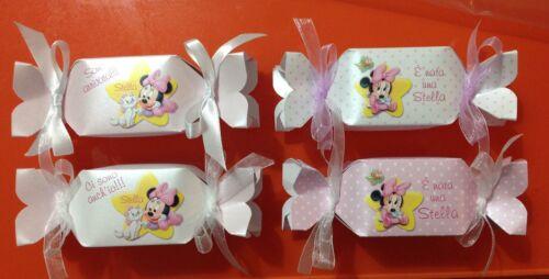 n. 5 Scatoline (caramelle) personalizzabili per nascite, battesimi, compleanni..