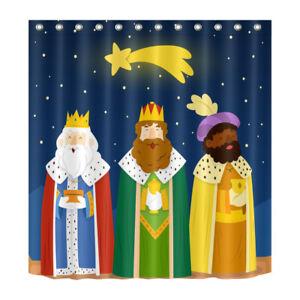 Image Is Loading Waterproof Bathroom Three Kings Nativity Of Jesus Shower