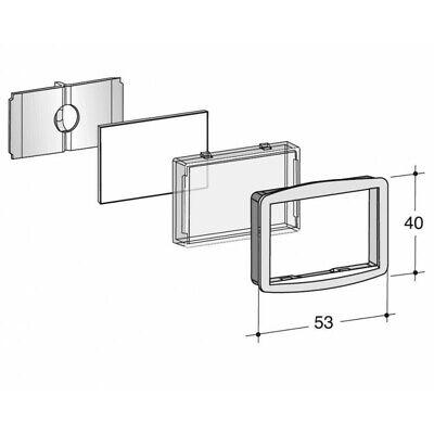 Kit vetrino portanome 90x26 nero 90-026 per cassetta postale serie SC  23300