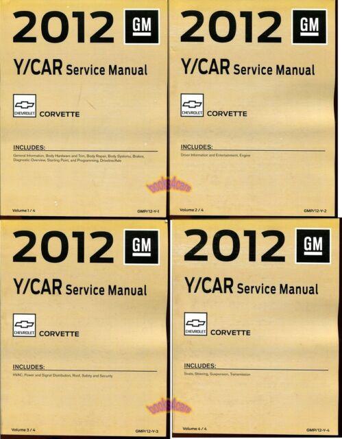 Corvette 2012 Shop Manual Service Repair Book Haynes