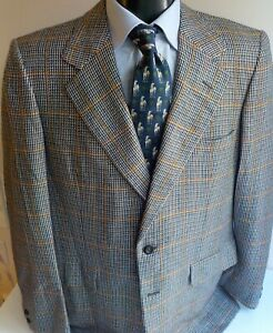 Chester Barrie For Austin Reed Sport Coat 100 Cashmere Plaid 44long England Ebay