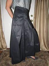 $528 NEW Matthildur Long Black Taffeta Lagenlook Skirt 4 XL NWT