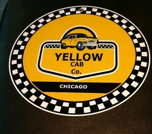 Details about Yellow Taxi Cab Company Chicago sign