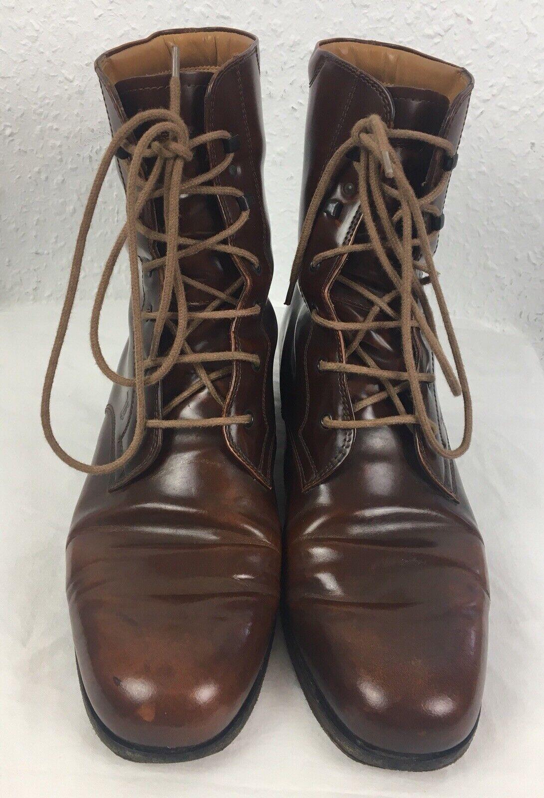 Tod's tods botines con cordones charol óptica unisex Handmade zapatos de diseño
