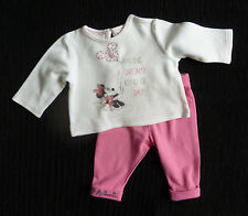 Baby clothes GIRL newborn 0-1m Disney Minnie Mouse long sleeve outfit pink/white