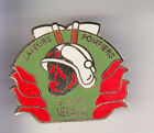 RARE PINS PIN'S .. POMPIER FIRE CASERNE CASQUE HACHE VELAUX 13 ~CD