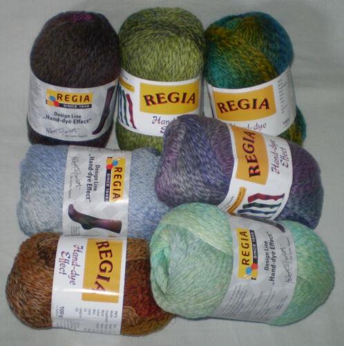 100 Gr Regia Hand Dye Effect Sock Yarn 4-fach//4 Thread Colour Gradient