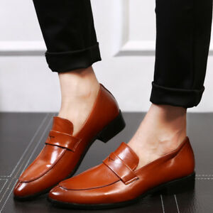 Men-039-s-Formal-Business-Party-Leather-Loafers-Dress-Casual-Driving-Shoes-Slip-On
