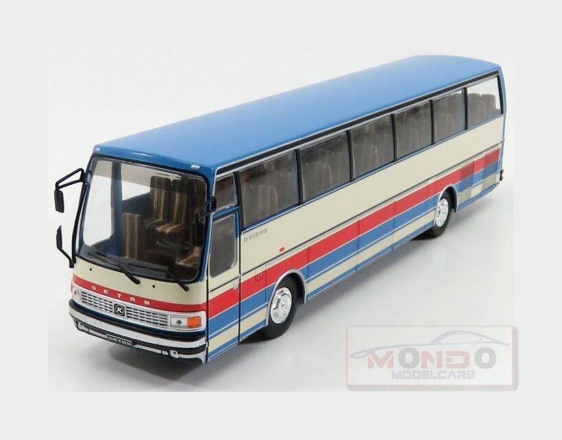 Setra S215 Hd Autobus 1976 Cream Light Blue Red IXO 1:43 BUS012